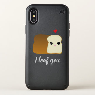 I Loaf You Cute Cartoon Love Bread Funny Food Pun Speck iPhone X Case
