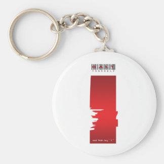 """ i "" logo basic round button keychain"