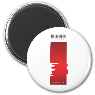 """ i "" logo 2 inch round magnet"