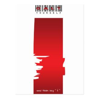 """ i "" logo postcard"