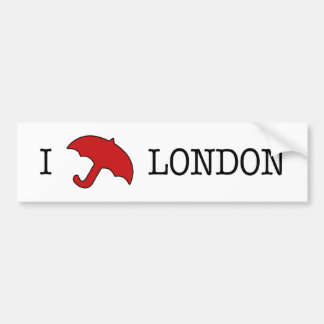 I ☂ Londres (pegatina para el parachoques) Pegatina De Parachoque