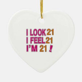I Look And I Feel 21 Ceramic Ornament