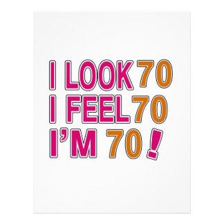 I Look And I Feel 70 Letterhead