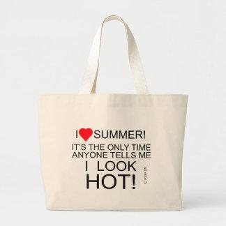 I Look Hot Jumbo Tote Bag