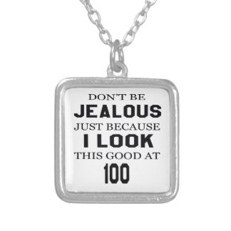I look this good at 100 square pendant necklace