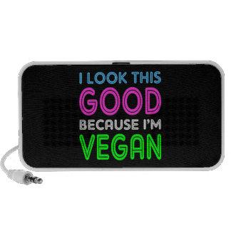 I Look This Good Because I'm Vegan iPhone Speaker
