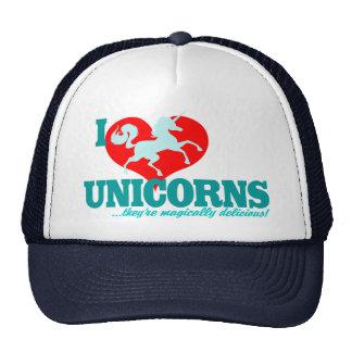 ¡I los unicornios del CORAZÓN… son mágico delicios Gorro