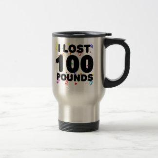 I Lost 100 Pounds Party Travel Mug