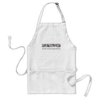 I lost 10kg in two weeks adult apron