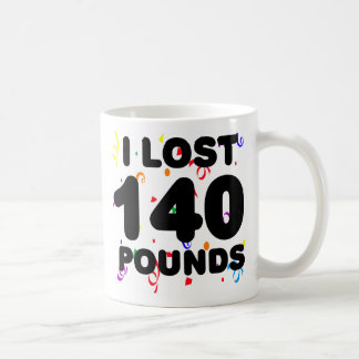 I Lost 140 Pounds Party Classic White Coffee Mug