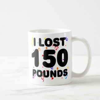 I Lost 150 Pounds Party Classic White Coffee Mug