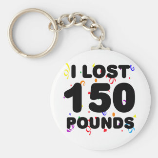 I Lost 150 Pounds Party Keychain