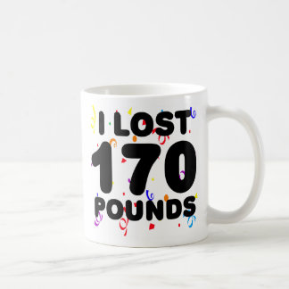 I Lost 170 Pounds Party Classic White Coffee Mug