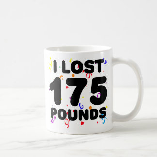 I Lost 175 Pounds Party Classic White Coffee Mug