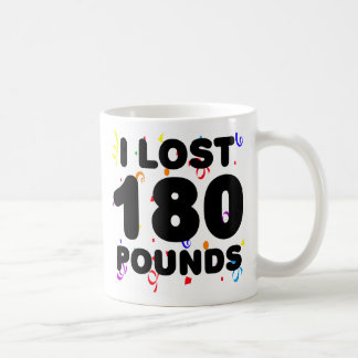 I Lost 180 Pounds Party Classic White Coffee Mug