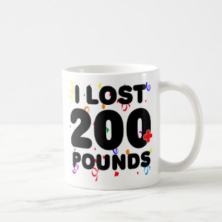 I Lost 200+ Pounds Party Classic White Coffee Mug