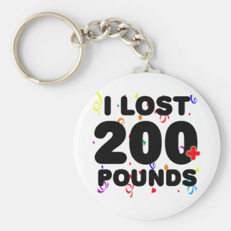 I Lost 200+ Pounds Party Keychain