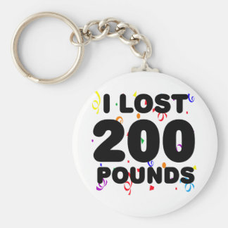 I Lost 200 Pounds Party Keychain