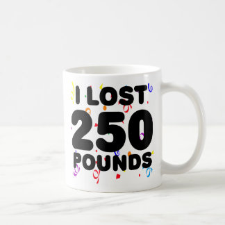 I Lost 250 Pounds Party Classic White Coffee Mug