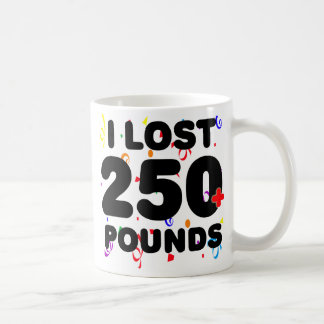 I Lost 250+ Pounds Party Classic White Coffee Mug