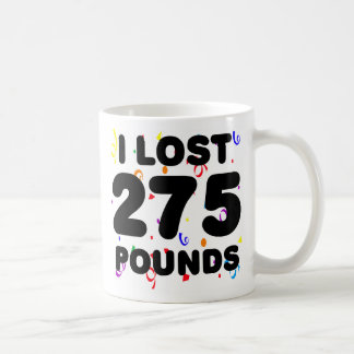 I Lost 275 Pounds Party Classic White Coffee Mug
