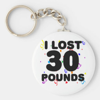 I Lost 30 Pounds Party Basic Round Button Keychain
