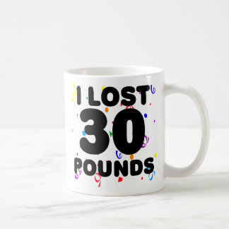 I Lost 30 Pounds Party Classic White Coffee Mug
