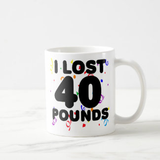 I Lost 40 Pounds Party Classic White Coffee Mug
