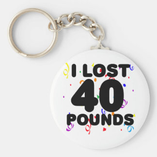 I Lost 40 Pounds Party Keychain