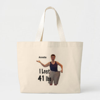 I lost 41 lbs, so can you tote bags