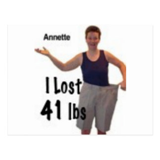 I lost 41 lbs, so can you postcard