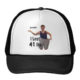 I lost 41 lbs, so can you trucker hat