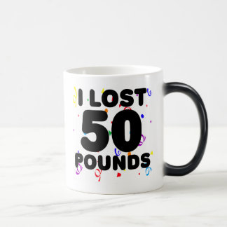 I Lost 50 Pounds Party 11 Oz Magic Heat Color-Changing Coffee Mug