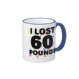 I Lost 60 Pounds Party Ringer Coffee Mug