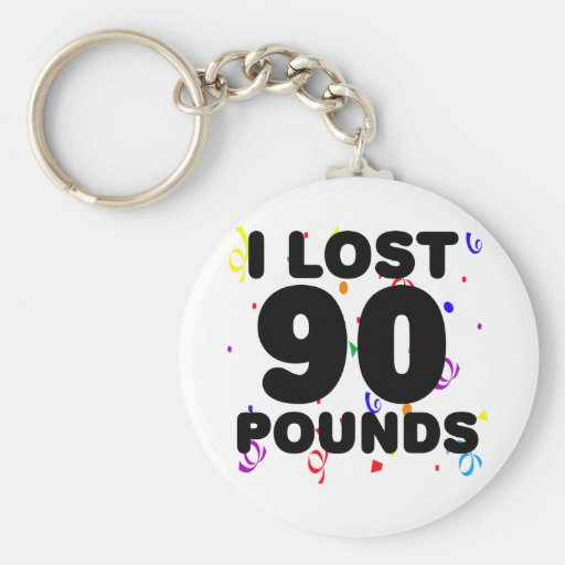 I Lost 90 Pounds Party Key Chain