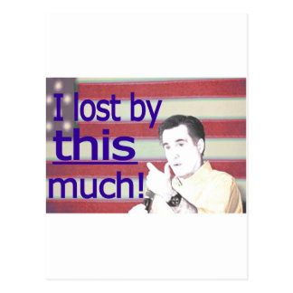 """""""I lost by this much!"""" Blue Text Post Cards"""