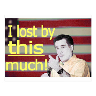 """""""I lost by this much!"""" Yellow Text Post Cards"""