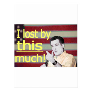 """""""I lost by this much!"""" Yellow Text Postcard"""