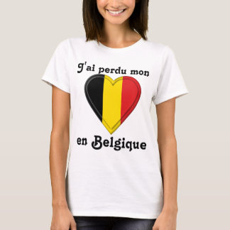 I lost my heart in Belgium - in French T-Shirt