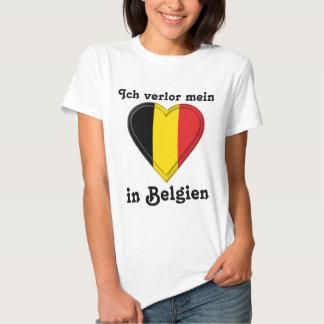 I lost my heart in Belgium - in German T Shirt