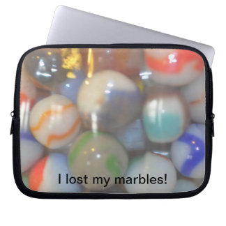 I lost my marbles laptop sleeve