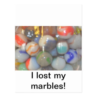 I lost my marbles products postcard