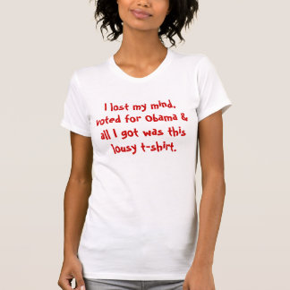 I lost my mind, voted for Obama & all I got was... T-Shirt