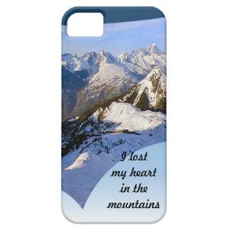 I losy mi corazón en la gama del Mt Blanc de las iPhone 5 Fundas