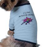 i lov3e roller derby pet t shirt