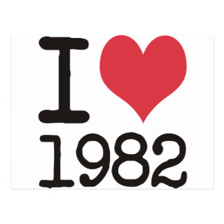 I Love1982 Products & Designs! Postcard