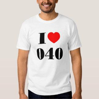 I love 040 t-shirt