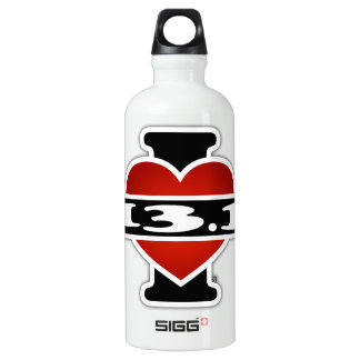 I Love 13.1 (Marathon) Aluminum Water Bottle