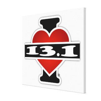 I Love 13.1 (Marathon) Canvas Print