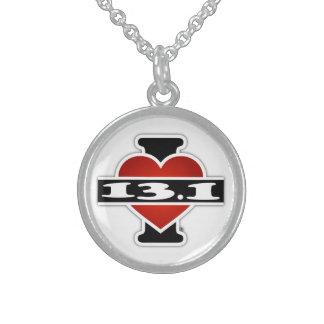 I Love 13.1 (Marathon) Sterling Silver Necklace
